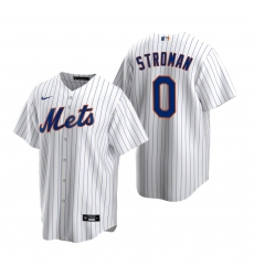 Men's Nike New York Mets #0 Marcus Stroman White 2020 Home Stitched Baseball Jersey