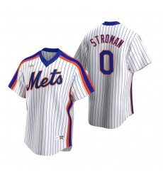 Men's Nike New York Mets #0 Marcus Stroman White Cooperstown Collection Home Stitched Baseball Jersey