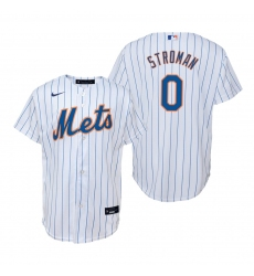 Men's Nike New York Mets #0 Marcus Stroman White Home Stitched Baseball Jersey