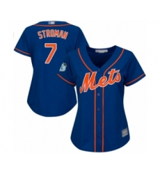 Women's New York Mets #7 Marcus Stroman Authentic Royal Blue Alternate Home Cool Base Baseball Jersey