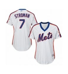 Women's New York Mets #7 Marcus Stroman Authentic White Alternate Cool Base Baseball Jersey