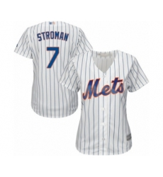 Women's New York Mets #7 Marcus Stroman Authentic White Home Cool Base Baseball Jersey