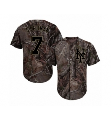 Youth New York Mets #7 Marcus Stroman Authentic Camo Realtree Collection Flex Base Baseball Jersey