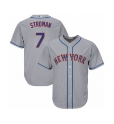 Youth New York Mets #7 Marcus Stroman Authentic Grey Road Cool Base Baseball Jersey
