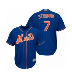 Youth New York Mets #7 Marcus Stroman Authentic Royal Blue Alternate Home Cool Base Baseball Jersey