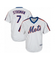 Youth New York Mets #7 Marcus Stroman Authentic White Alternate Cool Base Baseball Jersey