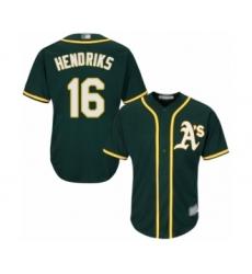 Men's Oakland Athletics #16 Liam Hendriks Replica Green Alternate 1 Cool Base Baseball Jersey
