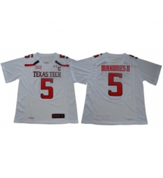 Red Raiders #5 Patrick Mahomes White Limited Stitched College Jersey
