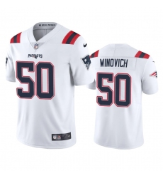 Nike New England Patriots #50 Chase Winovich Men's White 2020 Vapor Limited Jersey