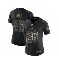 Women's New York Jets #26 Le'Veon Bell Black Gold Vapor Untouchable Limited Player Football Jersey