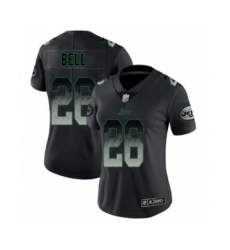 Women's New York Jets #26 Le'Veon Bell Limited Black Smoke Fashion Football Jersey
