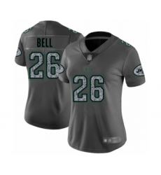 Women's New York Jets #26 Le'Veon Bell Limited Gray Static Fashion Football Jersey