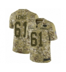 Men's New York Jets #61 Alex Lewis Limited Camo 2018 Salute to Service Football Jersey