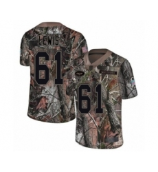 Men's New York Jets #61 Alex Lewis Limited Camo Rush Realtree Football Jersey