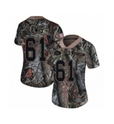 Women's New York Jets #61 Alex Lewis Limited Camo Rush Realtree Football Jersey