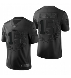 Men's Kansas City Chiefs #15 Patrick Mahomes Black Nike Souvenir Edition Limited Jersey