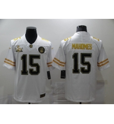 Men's Kansas City Chiefs #15 Patrick Mahomes Nike White Super Bowl LIV Champions Limited Jersey