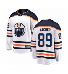 Men's Edmonton Oilers #89 Sam Gagner Authentic White Away Fanatics Branded Breakaway Hockey Jersey