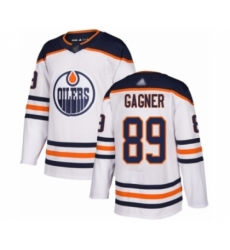 Men's Edmonton Oilers #89 Sam Gagner Authentic White Away Hockey Jersey