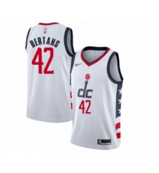 Men's Washington Wizards #42 Davis Bertans Swingman White Basketball Jersey - 2019  20 City Edition