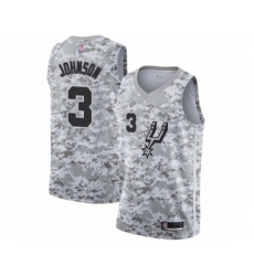 Men's San Antonio Spurs #3 Keldon Johnson White Swingman Jersey - Earned Edition