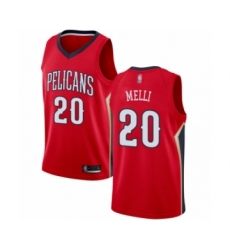 Men's New Orleans Pelicans #20 Nicolo Melli Authentic Red Basketball Jersey Statement Edition