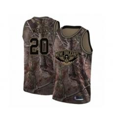 Men's New Orleans Pelicans #20 Nicolo Melli Swingman Camo Realtree Collection Basketball Jersey