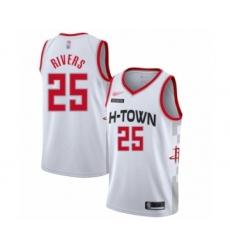 Men's Houston Rockets #25 Austin Rivers Swingman White Basketball Jersey - 2019 20 City Edition