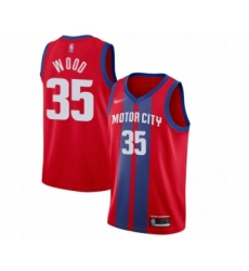 Men's Detroit Pistons #35 Christian Wood Swingman Red Basketball Jersey - 2019 20 City Edition