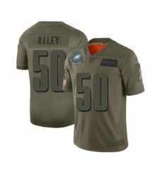Men's Philadelphia Eagles #50 Duke Riley Limited Olive 2019 Salute to Service Football Jersey