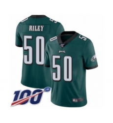 Men's Philadelphia Eagles #50 Duke Riley Midnight Green Team Color Vapor Untouchable Limited Player 100th Season Football Jersey