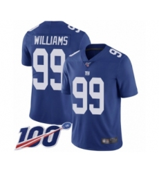 Men's New York Giants #99 Leonard Williams Royal Blue Team Color Vapor Untouchable Limited Player 100th Season Football Jersey