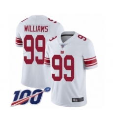 Men's New York Giants #99 Leonard Williams White Vapor Untouchable Limited Player 100th Season Football Jersey