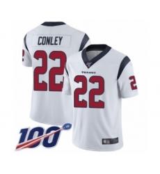 Men's Houston Texans #22 Gareon Conley White Vapor Untouchable Limited Player 100th Season Football Jersey
