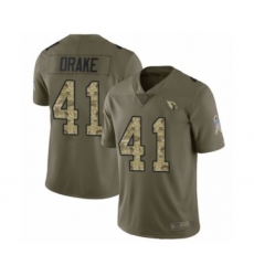 Men's Arizona Cardinals #41 Kenyan Drake Limited Olive Camo 2017 Salute to Service Football Jersey