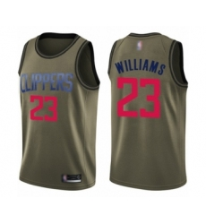 Men's Los Angeles Clippers #23 Lou Williams Swingman Green Salute to Service Basketball Jersey