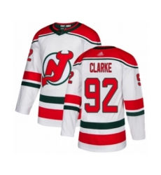 Men's New Jersey Devils #92 Graeme Clarke Authentic White Alternate Hockey Jersey