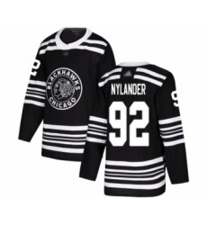 Men's Chicago Blackhawks #92 Alexander Nylander Authentic Black Alternate Hockey Jersey
