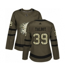 Women's Calgary Flames #39 Cam Talbot Authentic Green Salute to Service Hockey Jersey