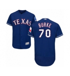 Men's Texas Rangers #70 Brock Burke Royal Blue Alternate Flex Base Authentic Collection Baseball Player Jersey