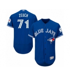 Men's Toronto Blue Jays #71 T.J. Zeuch Blue Alternate Flex Base Authentic Collection Baseball Player Jersey