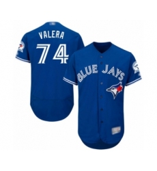 Men's Toronto Blue Jays #74 Breyvic Valera Blue Alternate Flex Base Authentic Collection Baseball Player Jersey