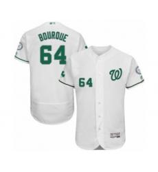 Men's Washington Nationals #64 James Bourque White Celtic Flexbase Authentic Collection Baseball Player Jersey