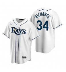 Men's Nike Tampa Bay Rays #34 Trevor Richards White Home Stitched Baseball Jersey