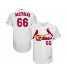 Men's St. Louis Cardinals #66 Randy Arozarena White Home Flex Base Authentic Collection Baseball Player Jersey