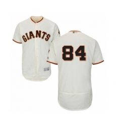 Men's San Francisco Giants #84 Melvin Adon Cream Home Flex Base Authentic Collection Baseball Player Jersey