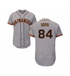 Men's San Francisco Giants #84 Melvin Adon Grey Road Flex Base Authentic Collection Baseball Player Jersey