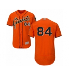 Men's San Francisco Giants #84 Melvin Adon Orange Alternate Flex Base Authentic Collection Baseball Player Jersey