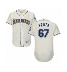Men's Seattle Mariners #67 Matt Festa Cream Alternate Flex Base Authentic Collection Baseball Player Jersey