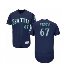 Men's Seattle Mariners #67 Matt Festa Navy Blue Alternate Flex Base Authentic Collection Baseball Player Jersey